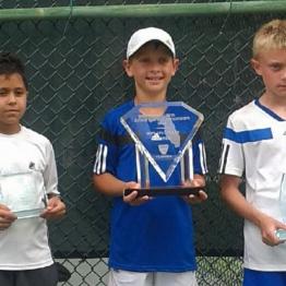 Boys 10s Carlos Ramirez (3rd) Alexander Adamec (Champion) Zak Vince (Finalist)