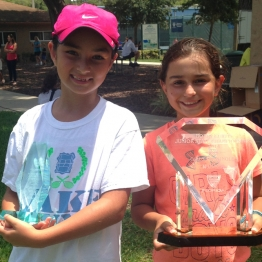 Girls 10s Violeta Martinez (Champion) Natalie Block (Finalist)