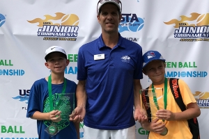 2017 Bobby Curtis Green Ball Boys Section 4th Place Nicholas Rizzo 3rd Place Felix Puyplat