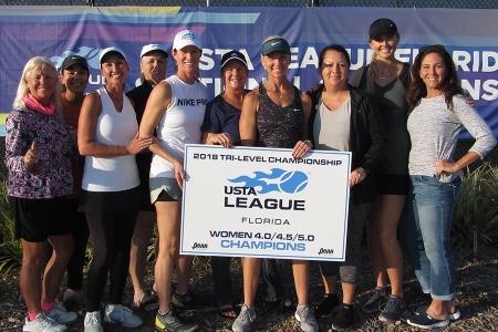 4.0 4.5 5.0 Women Champions - Sarasota