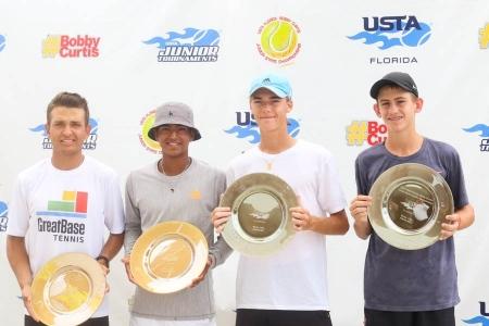 Boys' 16s Champs: Santiago Cardenas, Zamaan Moledina     Finalists: Amadeus Charlez-Alcock, Max Lindstrom