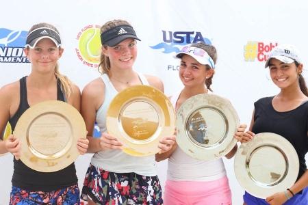 Girls' 16s Champs: Ryan Wuhrman, Sophie Llewellyn     Finalists: Brooke Dugarte, Valeria Centeno