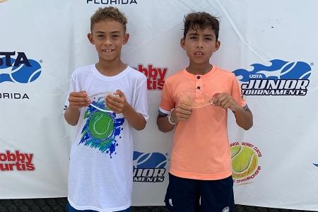 Boys' 5th Place Jordan Lee, 6th Place Adrian Baerga-Torres