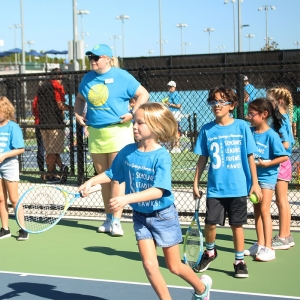 Energetic kids on the court
