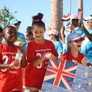 Kids Day at the 2019 Junior Davis Cup and Fed Cup