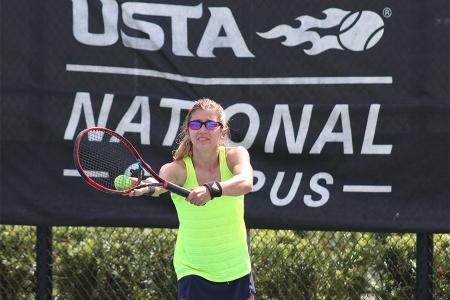Brittany Tagliareni at the 2019 USTA Adaptive National Championships