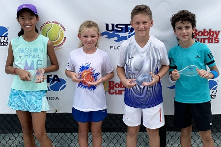 Bobby Curtis Orange Ball Winners: Haily Tong, Taylor Allcott -- Finalists: Luka Kostic, Max Shilt
