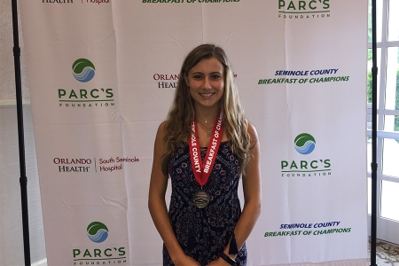 Maras was awarded the Girls Tennis Player of the Year award at the 2019 Seminole County Breakfast of Champions