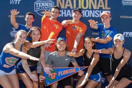 UF club tennis at the Tennis on Campus National Championships