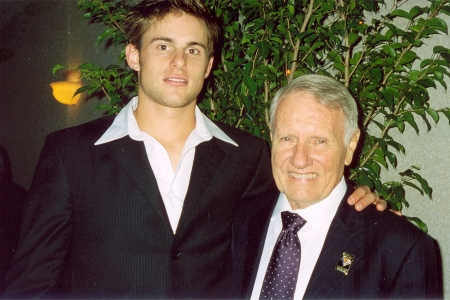 Andy Roddick with Bobby Curtis