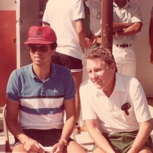 Bobby with Arthur Ashe