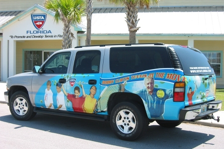 USTA Florida's Tennis on the Move vehicle