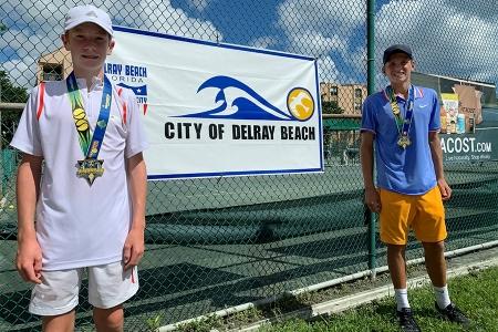 Boys' 14s Finalist: Calvin Baierl, Boys' 14s Champion: Jacob Olar