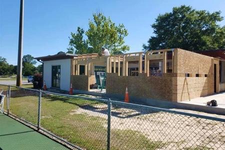 Construction progress around April 28, 2020