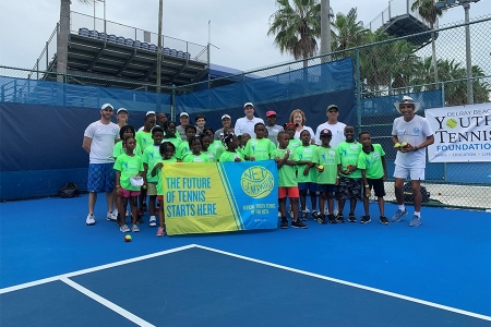 Luis with the Delray Beach Youth Tennis Foundation