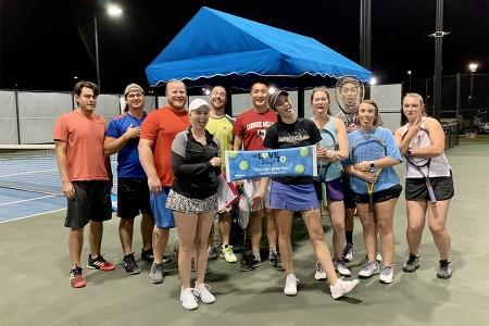 "Group promoting USTA Florida's ""Love To..."" Program"