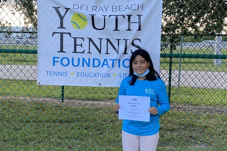 Girls 11-12: Evelyn Nino, Delray Beach Youth Tennis Foundation