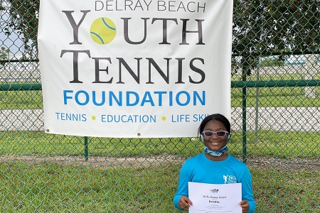 Girls 10 & Under: Rebecca Ankapong, Delray Beach Youth Tennis Foundation