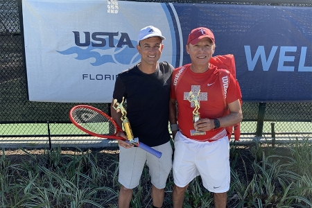 Men's 5.0 Singles -- 1st Place: Alex Bose, 2nd Place: Felipe Alarcon