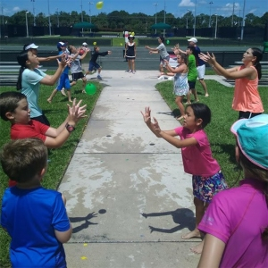 Kids staying cool with fun activities