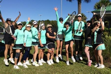 The Ladies D5 team celebrating