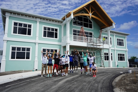 The new Palm Beach Gardens Tennis Center Clubhouse with staff