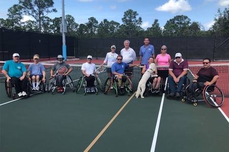 Wheelchair tournament participants
