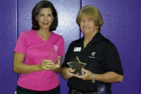 Cathy Nordlund and Susan Allshouse receive Special Olympics Florida Volunteer Awards in 2014