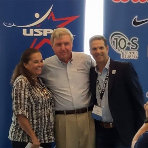 Burdell with members of the USPTA
