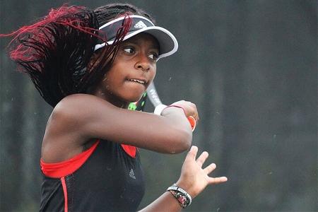 Junior tournament player