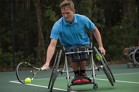 Wheelchair tournament player