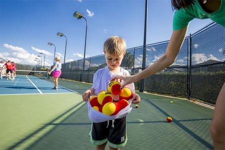 Speak Through Sports tennis clinic