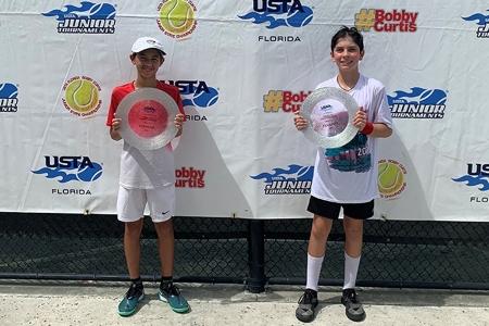Boys' 12s Finalists: Andre Bart, Diego Custodio
