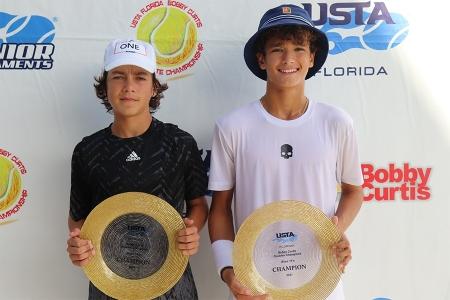Boys' 14s Winners: Rafael Ferreria, Stefan Karatosic