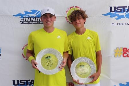 Boys' 16s Finalists: Ben Willwerth, Pierce Garbett