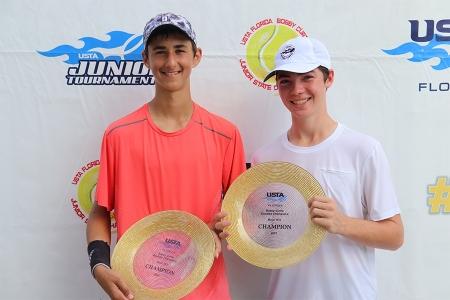 Boys' 16s Winners: Nikola Parichkov, Hunter Nussbaum