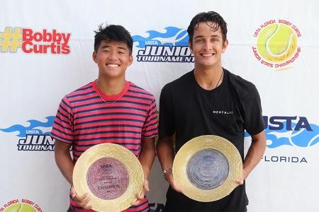 Boys' 18s Winners: Alex Han, Sammy Frizelle