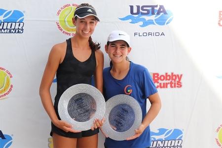 Girls' 14s Finalists: Berklie Simmering, Katie Spencer