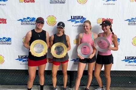 Girls' 16s Winners: Savannah Webster, Kaitlyn Quevedo Finalists: Hayley Roberts, Mollie Garcia