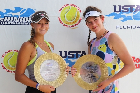 Girls' 18s Winners: Blanka DiMicheli, Delaine Tribby