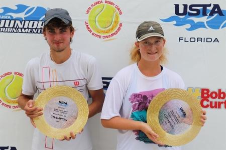 Mixed 16s Winners: David Prasievi, Catherine Goldman