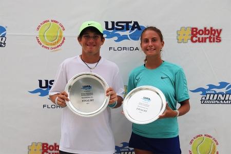 Mixed 18s Finalists: Philip Dell, Maria Markosov