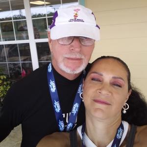 Milena with her husband, Jack
