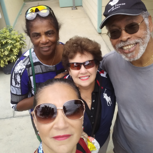 Milena with three of her best friends - Jen, Willie, and Arthur - who she met playing tennis