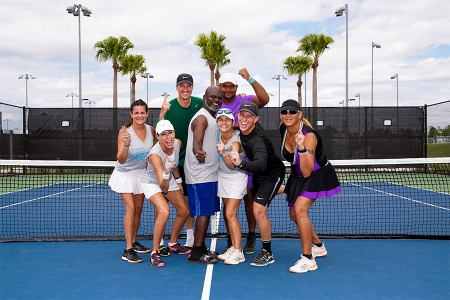 Natasha Torres with her team from Broward's Overland Park - the 2019 Mixed 18 & Over 7.0 National Champions