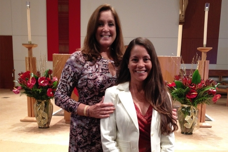 Miriam with mentor Linda Fiorentino