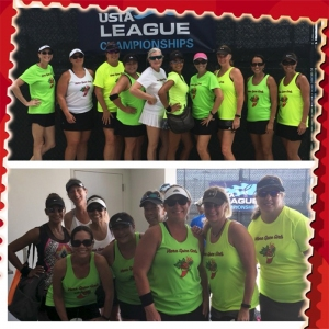 Miriam with her league at sectionals at the USTA National Campus