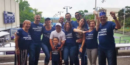 Santiago and his family at the 2018 USA Games