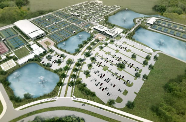 An artist's rendering of the USTA National Campus in Orlando