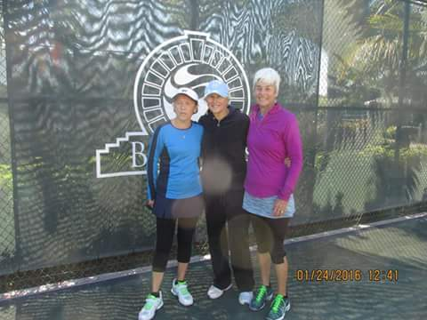 from left, Wachob, Tournament Director Trish Falkner, Brenda Carter.